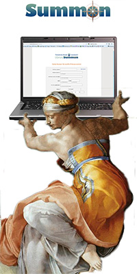 Summon goddess with laptop